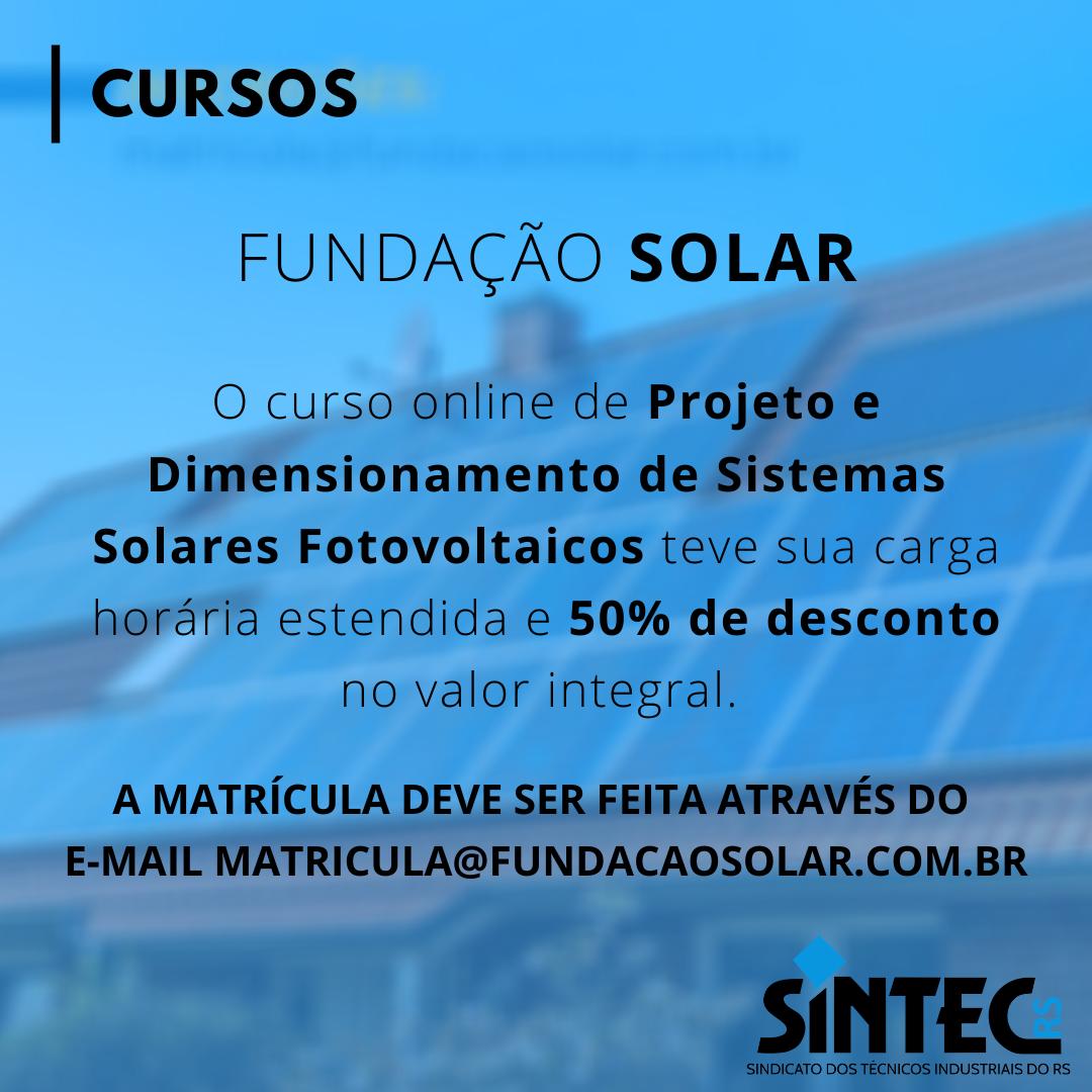 Curso De Projeto E Dimensionamento De Sistemas Solares Fotovoltaicos Online