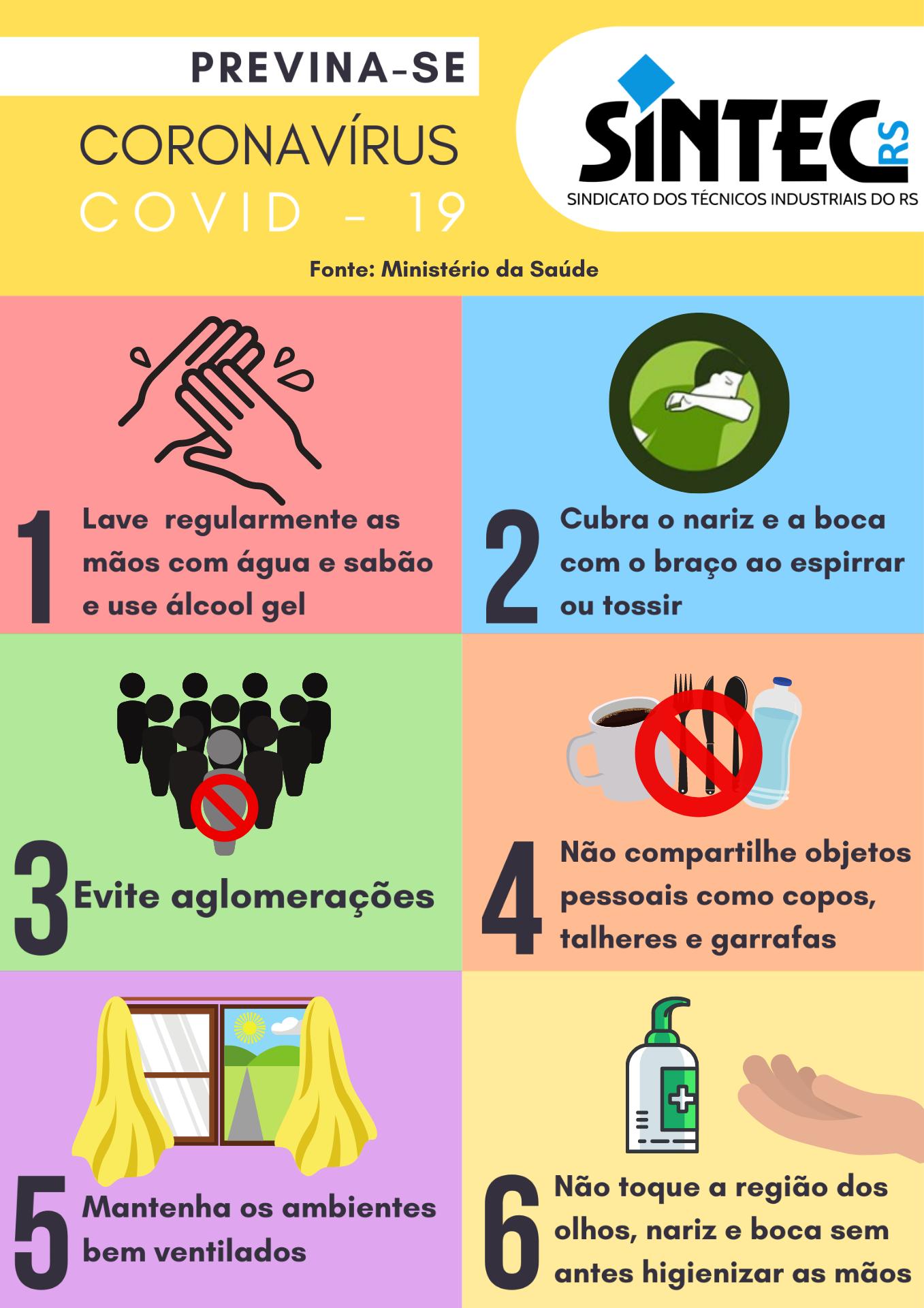 Coronavírus: Previna-se