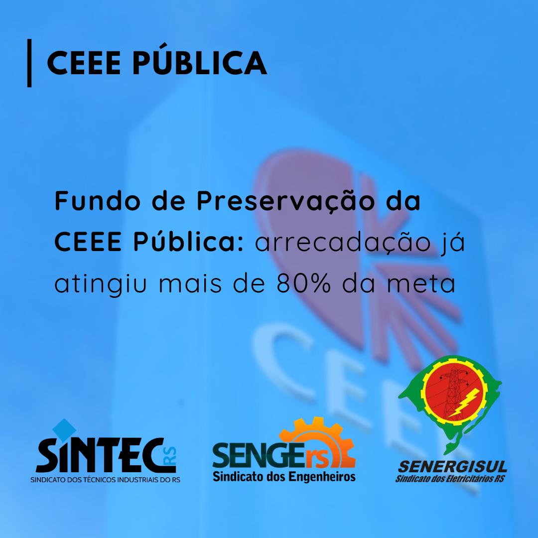 Fundo De Preservação Da CEEE Pública: Arrecadação Já Atingiu Mais De 80% Da Meta