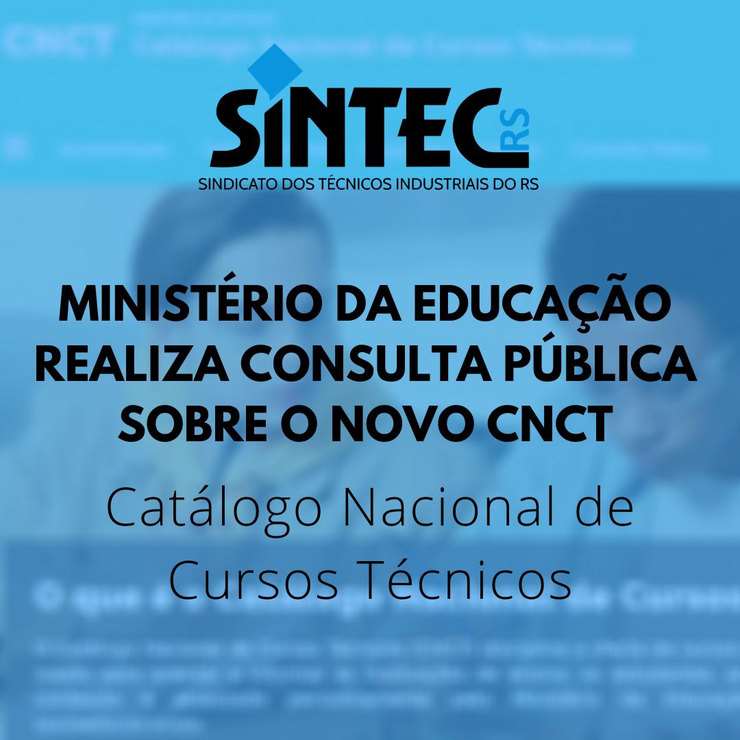 Consulta Pública: Catálogo Nacional De Cursos Técnicos