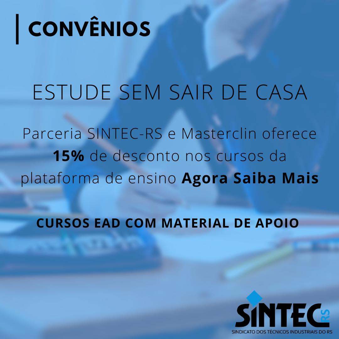 Parceria SINTEC-RS E Masterclin Oferece Descontos Em Cursos Online