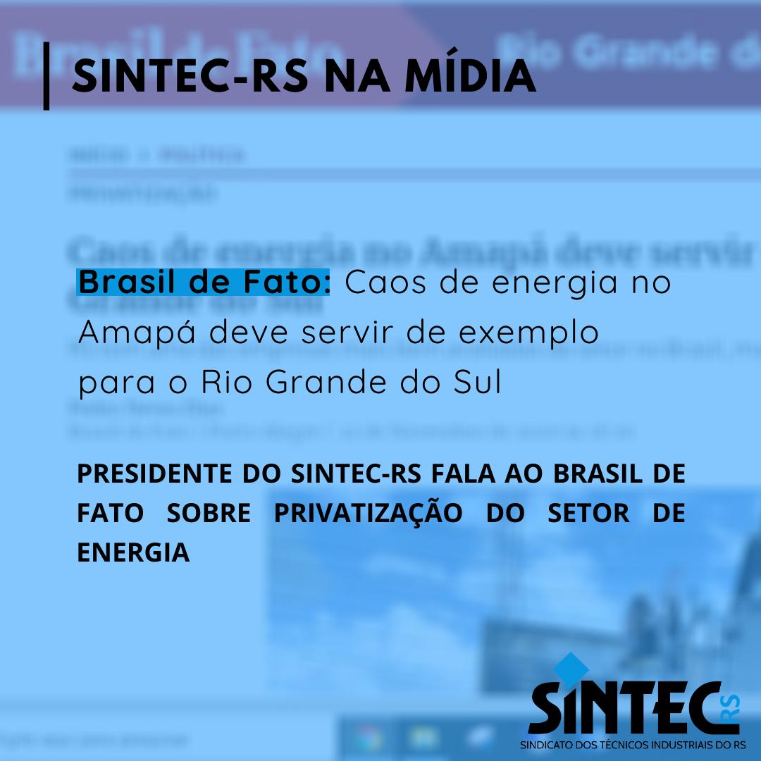 Brasil De Fato: Caos De Energia No Amapá Deve Servir De Exemplo Para O Rio Grande Do Sul