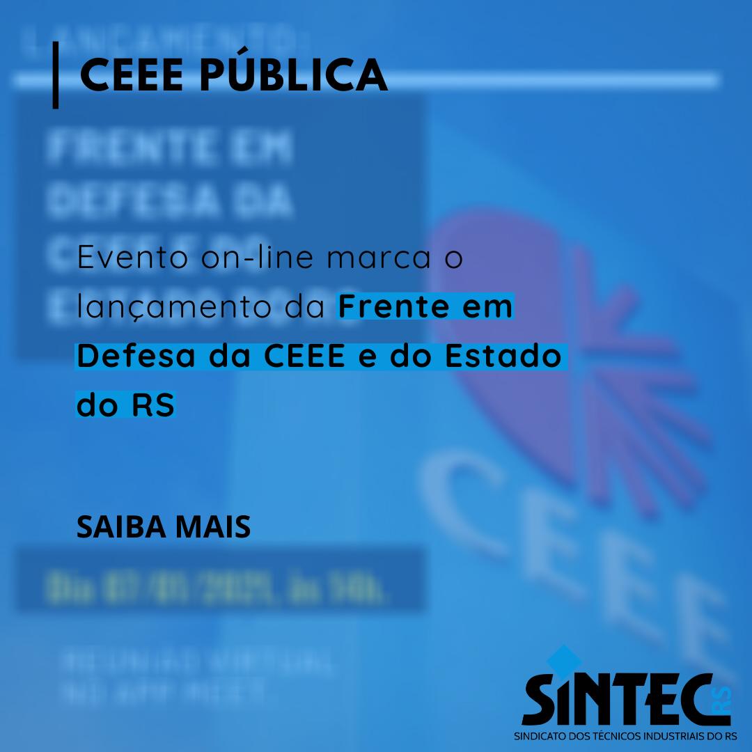 SINTEC-RS Participa Do Evento De Lançamento Da Frente Em Defesa Da CEEE E Do Estado Do RS