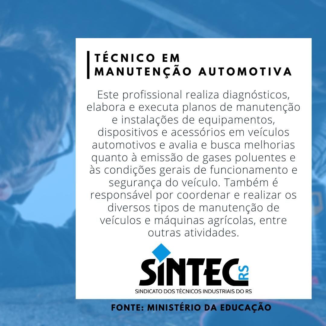 Quem São Os Técnicos Industriais? Técnico Em Manutenção Automotiva