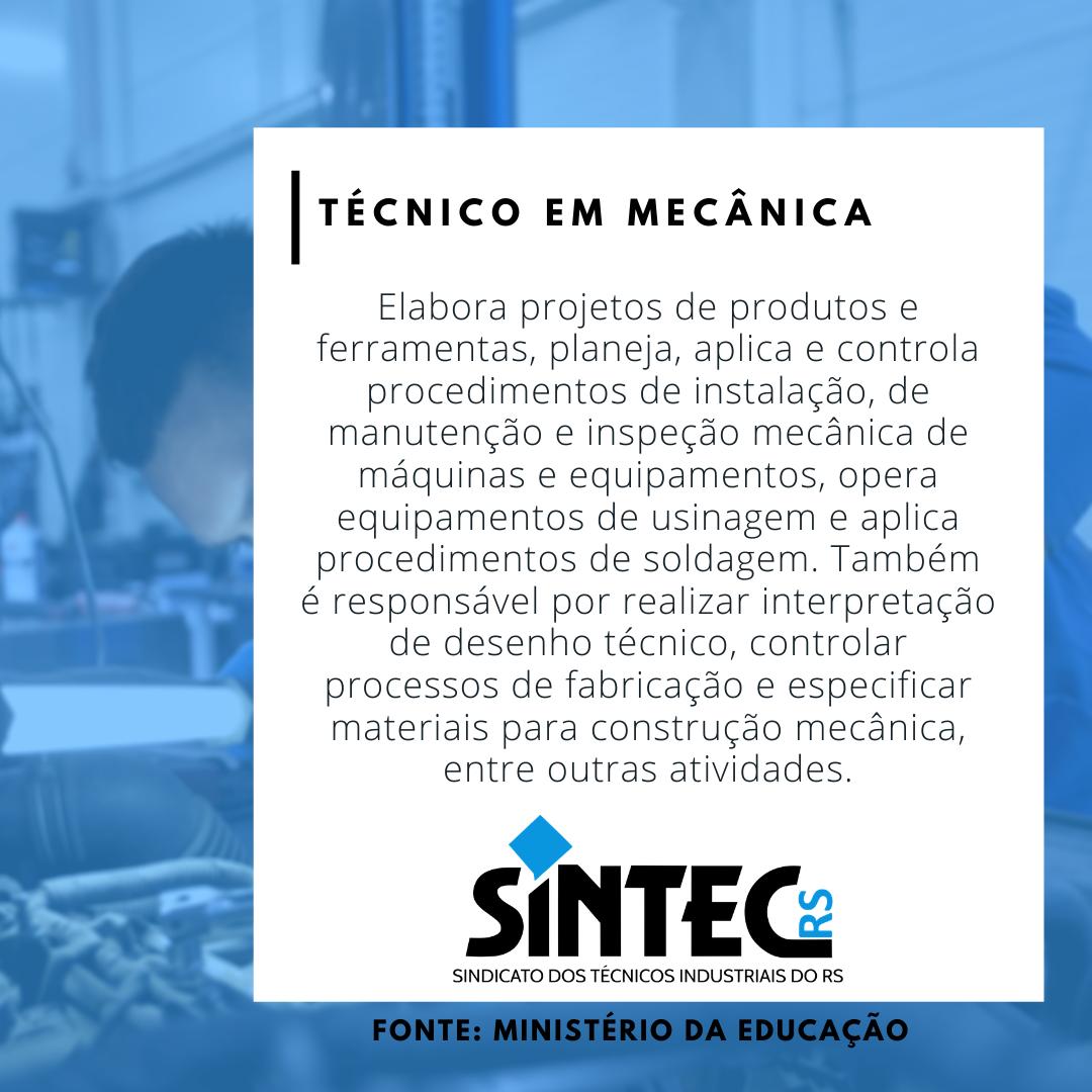 Quem São Os Técnicos Industriais: Técnico Em Mecânica